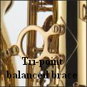 Tri-point balanved brace