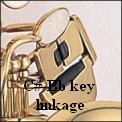 C#-Bb key linkage